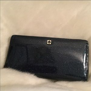 Kate Spade Mavis Street Neva glitter wallet
